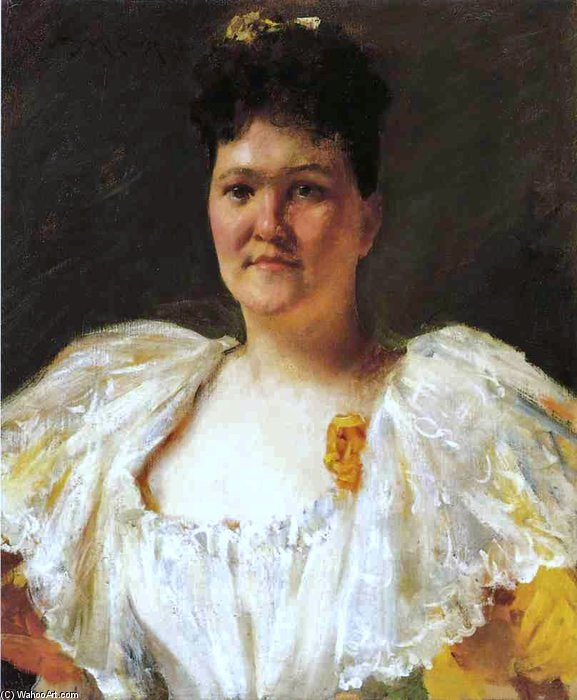 Portrait Of A Woman - by William Merritt Chase (1849-1916, United States)