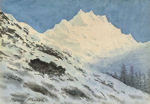 William Percy French - Alpine Landscape