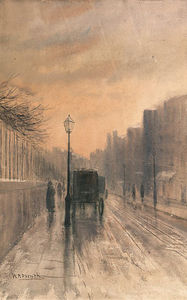 William Percy French - Nassau Street, Dublin