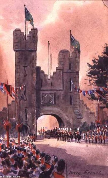 Queen Victoria Parades Around Dublin by William Percy French (1854-1920, Ireland) | Painting Copy | ArtsDot.com