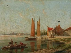 William Raymond Dommersen - On The Amstel, Amsterdam