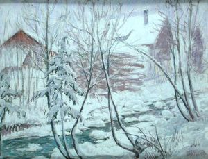William Samuel Horton - Chalets In The Snow