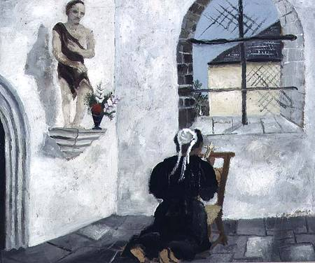 Breton Woman At Prayer by Christopher Wood (1901-1930, United Kingdom)