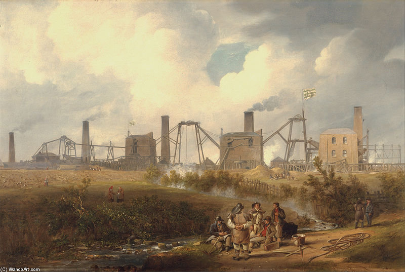 A View Of Murton Colliery Near Seaham, County Durham by John Wilson Carmichael (1800-1868, United Kingdom)