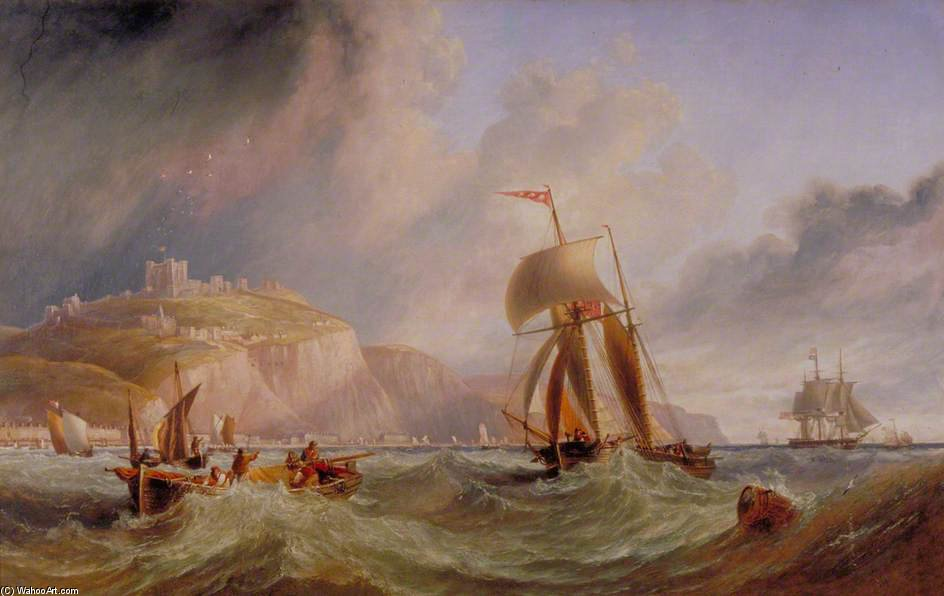 Breezy Day Off Dover by John Wilson Carmichael (1800-1868, United Kingdom)