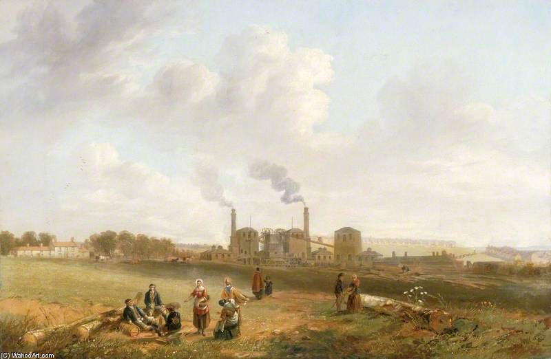 Murton Colliery, County Durham by John Wilson Carmichael (1800-1868, United Kingdom)