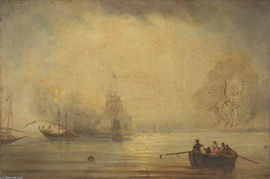 Nautical Scene by John Wilson Carmichael (1800-1868, United Kingdom)