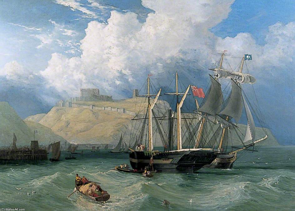 Off Dover by John Wilson Carmichael (1800-1868, United Kingdom)