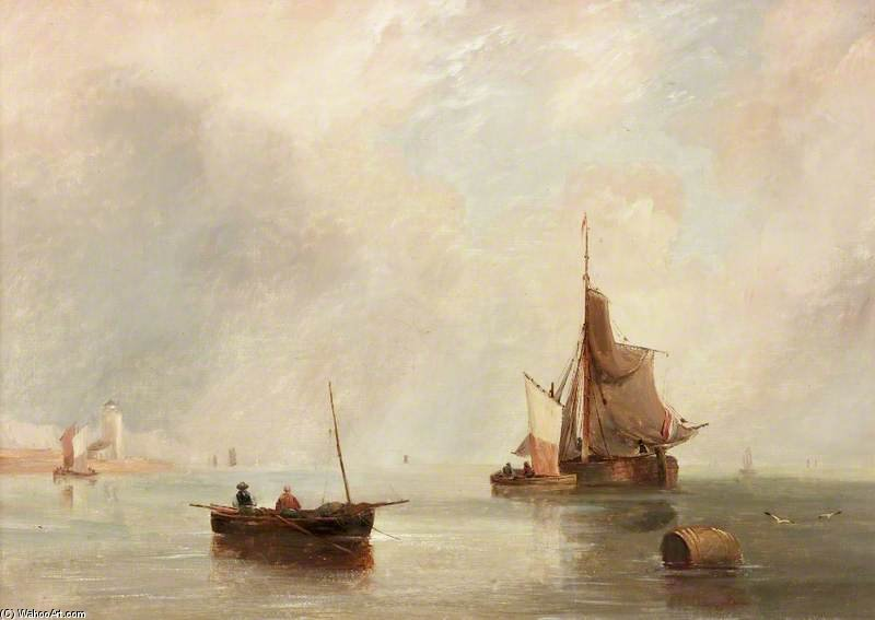 Off North Shields by John Wilson Carmichael (1800-1868, United Kingdom)