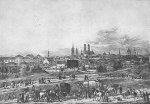 Domenico Quaglio - Munich Seen From Gasteig