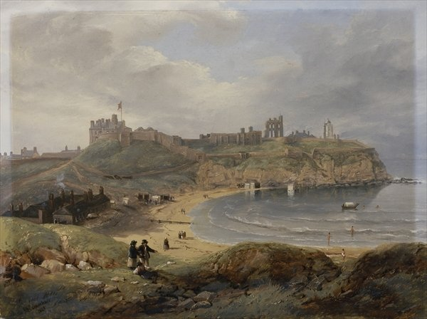 Prior's Haven, Tynemouth by John Wilson Carmichael (1800-1868, United Kingdom)