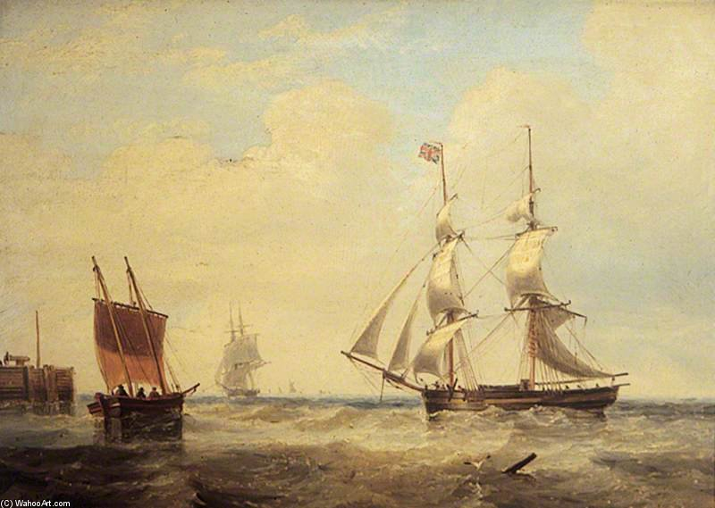 Sea Piece by John Wilson Carmichael (1800-1868, United Kingdom)