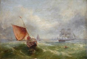 John Wilson Carmichael - Shipping Off Maryport