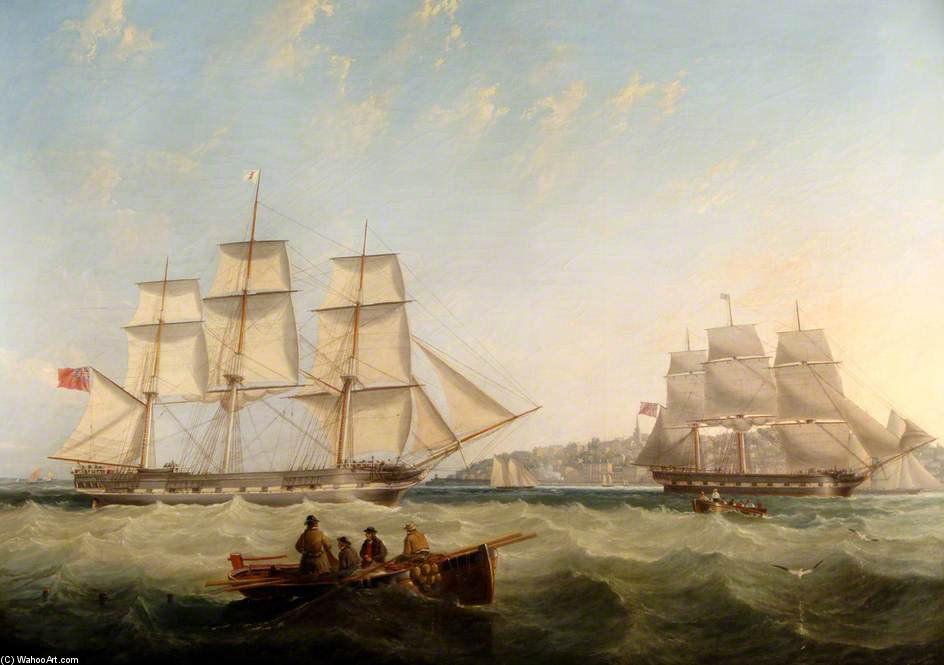 Shipping Off Ryde by John Wilson Carmichael (1800-1868, United Kingdom)