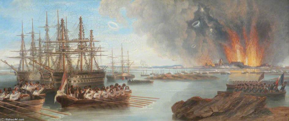 The Bombardment Of Sebastopol by John Wilson Carmichael (1800-1868, United Kingdom)