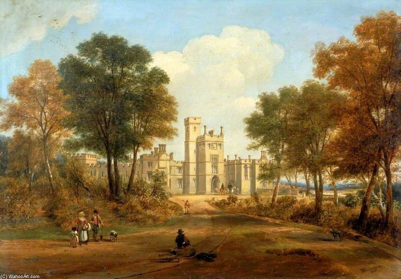 The Entrance To Beaufront Castle by John Wilson Carmichael (1800-1868, United Kingdom)