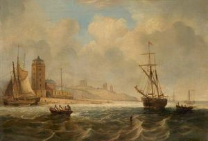 John Wilson Carmichael - The Entrance To The Tyne