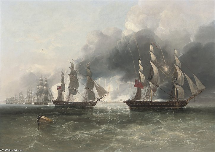 The Forcing Of The Scheldt by John Wilson Carmichael (1800-1868, United Kingdom)