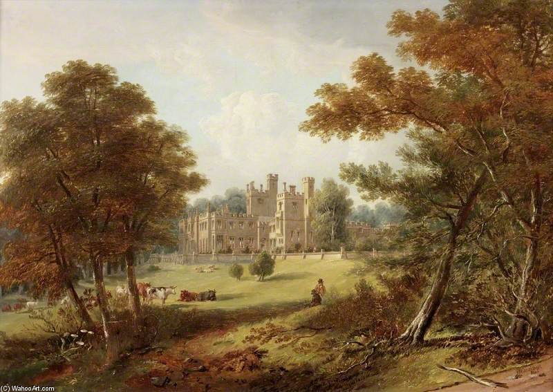 The Garden Front, Beaufront Castle by John Wilson Carmichael (1800-1868, United Kingdom)
