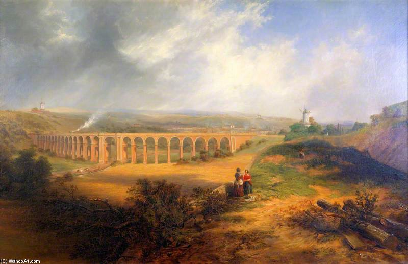 The London Road Viaduct, Brighton by John Wilson Carmichael (1800-1868, United Kingdom)