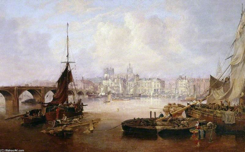 The Mayor`s Barge On The Tyne by John Wilson Carmichael (1800-1868, United Kingdom) | Museum Art Reproductions | ArtsDot.com
