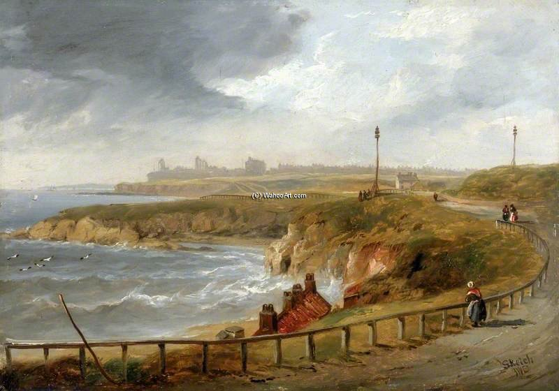 Tynemouth From Cullercoats by John Wilson Carmichael (1800-1868, United Kingdom) | ArtsDot.com