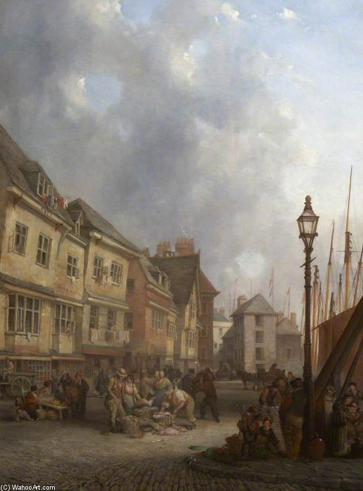 Barbican, Plymouth by Nicholas Matthew Condy (1816-1851) | Museum Art Reproductions | ArtsDot.com