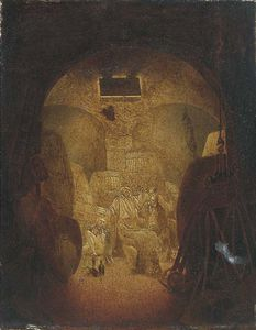 Nicholas Matthew Condy - Drunken Sailors In A Wine Cellar, Shaded As A Skull