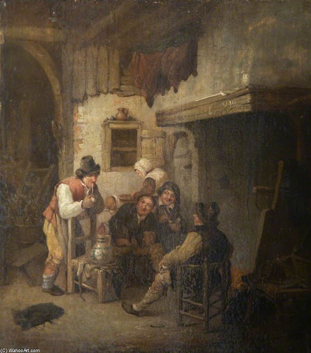 Interior Scene by Nicholas Matthew Condy (1816-1851) | Oil Painting | ArtsDot.com