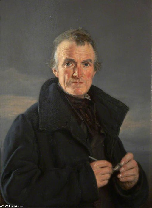 Portrait Of An Old Fisherman by Nicholas Matthew Condy (1816-1851) | Painting Copy | ArtsDot.com