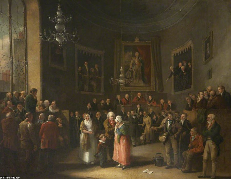 Trial In Progress by Nicholas Matthew Condy (1816-1851) | Museum Quality Reproductions | ArtsDot.com
