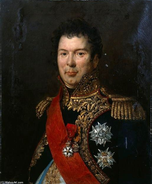Portrait Of Count Songis Courbons In Full Uniform General by Paulin Jean Baptiste Guerin (1783-1855, France)