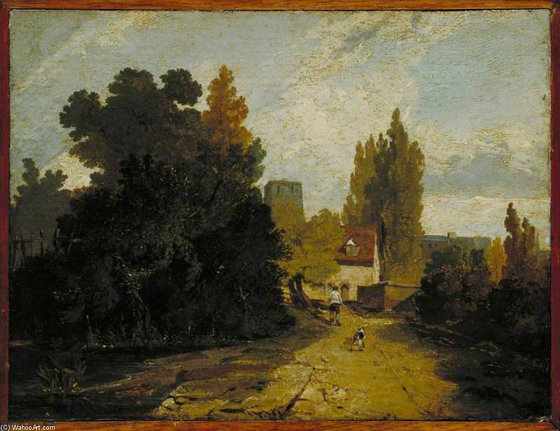 A Road Leading To A Village by Augustus Wall Callcott (1779-1844, United Kingdom)
