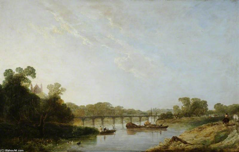 A View Of The Thames, With Eton Chapel by Augustus Wall Callcott (1779-1844, United Kingdom) | Painting Copy | ArtsDot.com