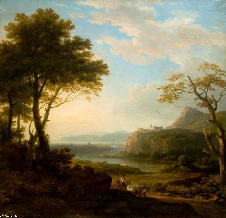 Classical Landscape - by Augustus Wall Callcott (1779-1844, United Kingdom) | Painting Copy | ArtsDot.com