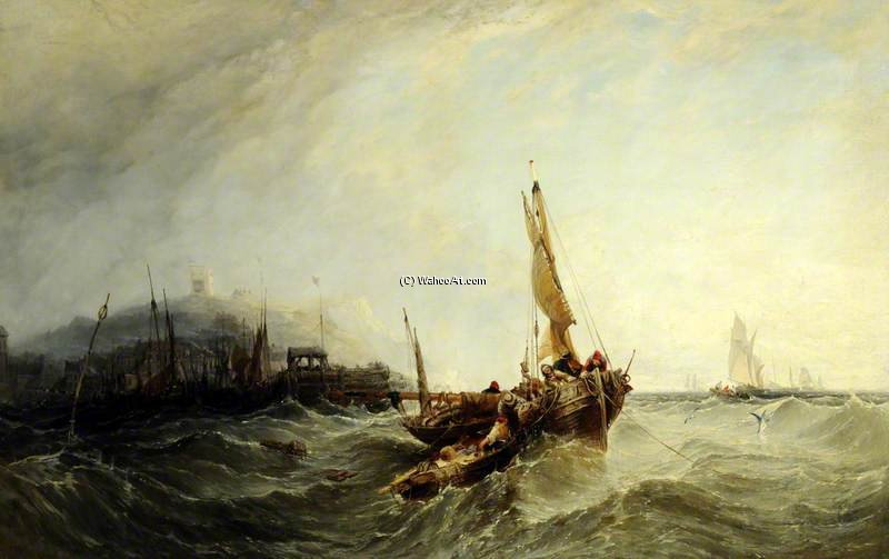 Harbour Scene by Augustus Wall Callcott (1779-1844, United Kingdom)