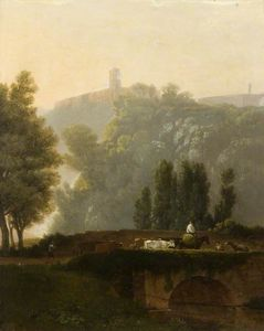Augustus Wall Callcott - Landscape And Figures