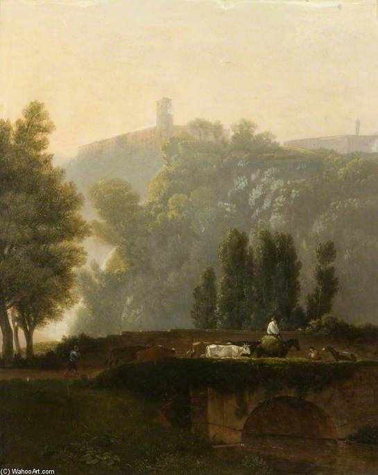 Landscape And Figures by Augustus Wall Callcott (1779-1844, United Kingdom)
