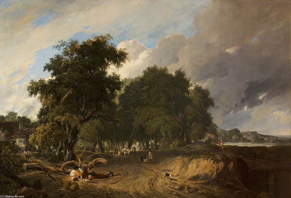 Landscape, Market Day by Augustus Wall Callcott (1779-1844, United Kingdom) | Museum Quality Reproductions | ArtsDot.com