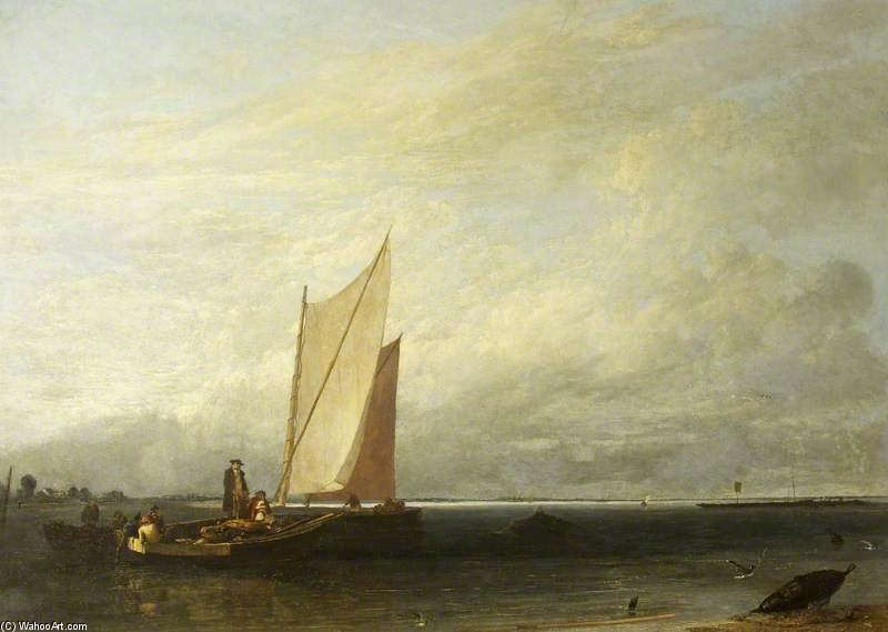 Passage And Luggage Boats by Augustus Wall Callcott (1779-1844, United Kingdom)