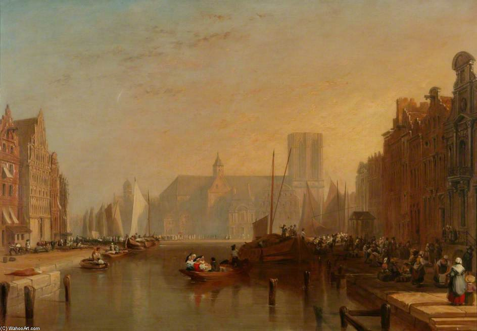 View Of Ghent by Augustus Wall Callcott (1779-1844, United Kingdom) | Painting Copy | ArtsDot.com