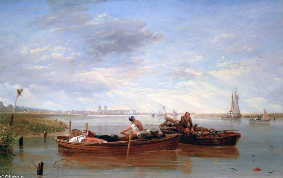View Of Greenwich Hospital And The River Thames Taken On The Isle Of Dogs by Augustus Wall Callcott (1779-1844, United Kingdom)
