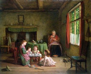 Thomas George Webster - A Tea Party