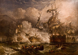 Adolphus Knell - A Painting Of The Battle ..