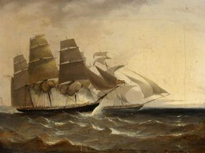 Adolphus Knell - Hms 'pearl' Capturing The..