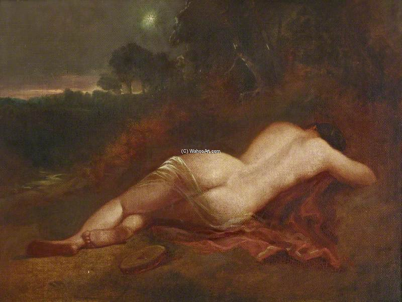 A Female Nude Asleep In A Landscape With The Evening Star by William Etty (1787-1849, United Kingdom) | Museum Quality Reproductions | ArtsDot.com