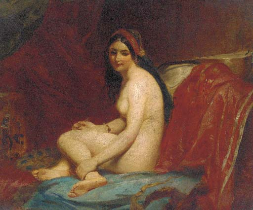 A Female Nude In An Interior by William Etty (1787-1849, United Kingdom) | Oil Painting | ArtsDot.com