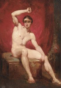 William Etty - A Male Nude Study