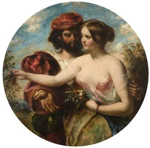 William Etty - Gather The Rose Of Love While Yet -tis Time-