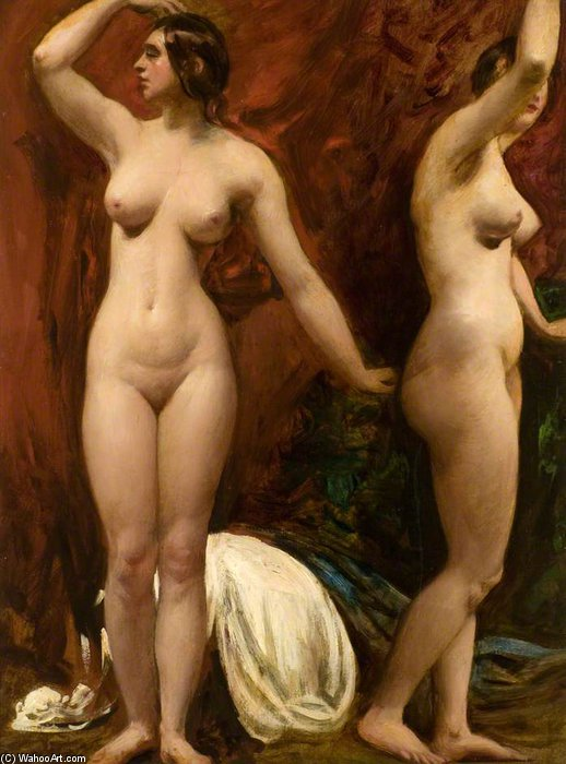 Studies Of A Female Model by William Etty (1787-1849, United Kingdom) | Museum Quality Reproductions | ArtsDot.com
